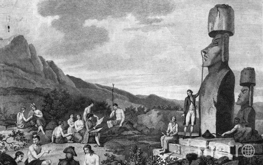 Статуи моаи. Фото Getty