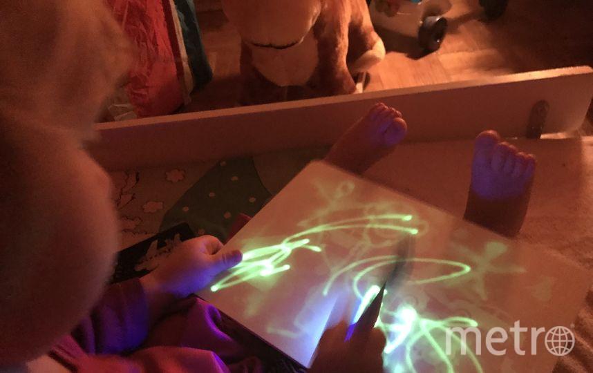 """Серафим рисует светом. Фото """"Metro"""""""