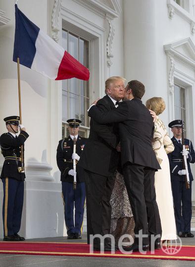 Эммануэль Макрон и Дональд Трамп. Фото Getty