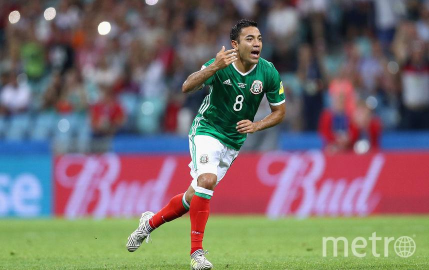 Полузащитник сборной Мексики по футболу Марко Фабиан. Фото Getty