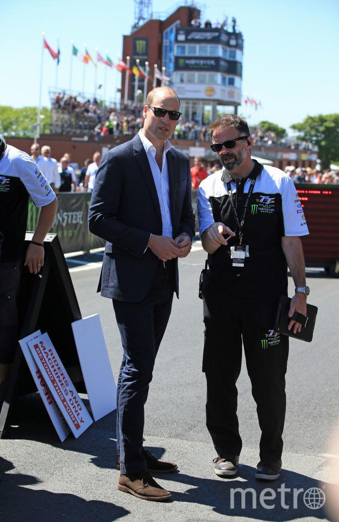 Принц Уильям присоединился к гоночным болельщикам на острове Мэн.. Фото Getty