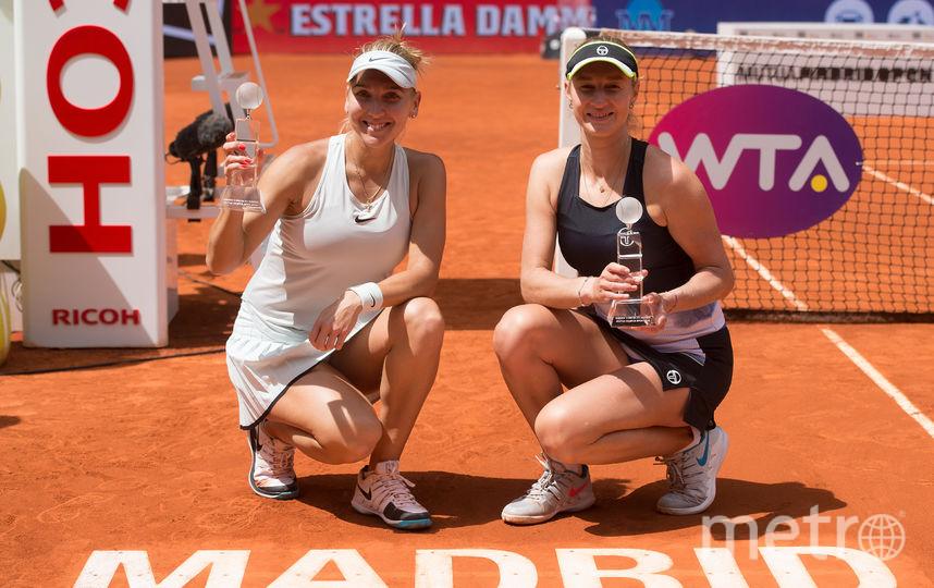 Российские тенниситки Елена Веснина и Екатерина Макарова. Фото Getty