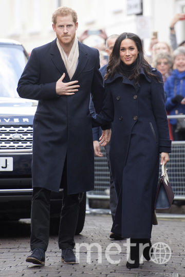 Герцогиня Сассекская Меган (Маркл) с принцем Гарри. Фото Getty