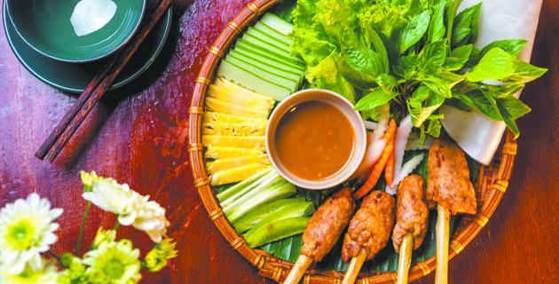 Вьетнамская уличная еда.