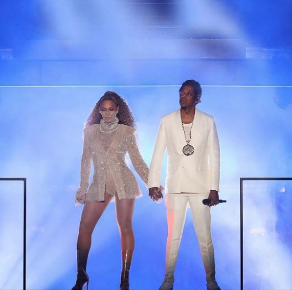 Бейонсе и Jay-Z на концерте в Уэльсе. Фото Скриншот Instagram: beyonce
