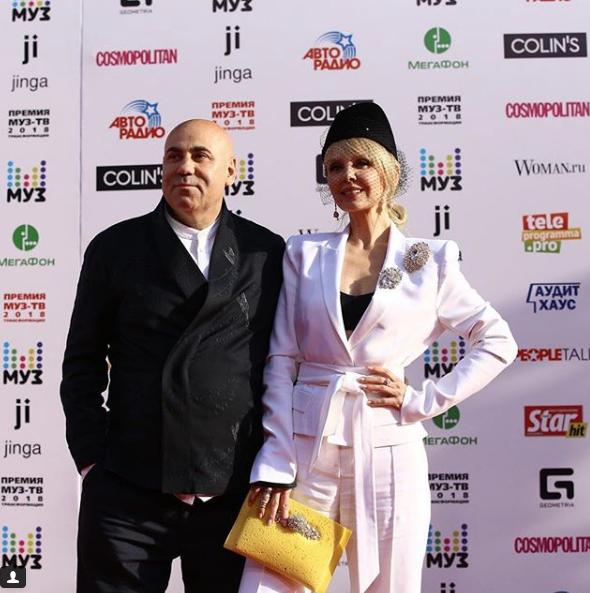 Валерия и Иосиф Пригожин. Фото скриншот https://www.instagram.com/muztv/?hl=ru