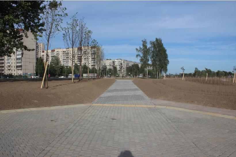 Обновленная часть Муринского парка. Фото stas-kh.livejournal