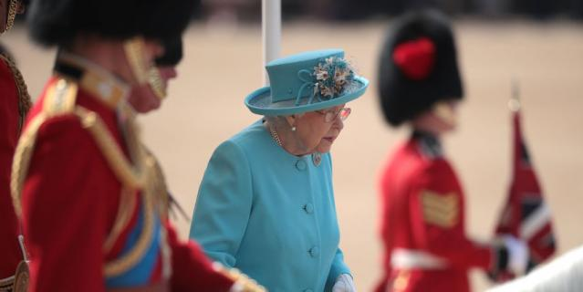 Парад Trooping the Colour 9 июня 2018 года.