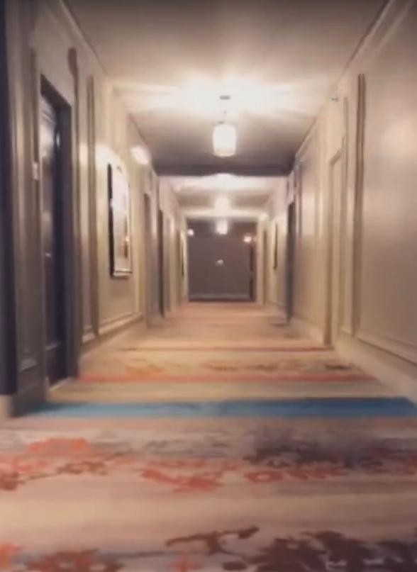 Кадры из видео, сделанные в отеле в Огайо. Фото Скриншот Youtube
