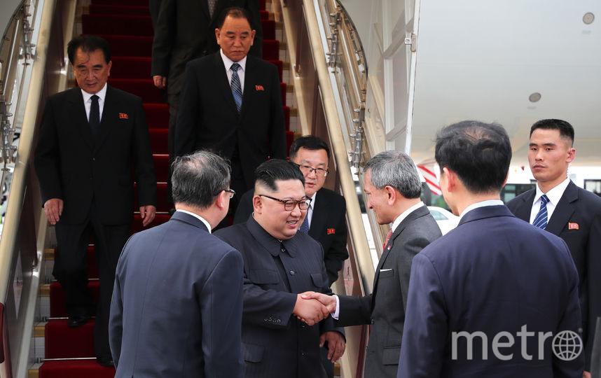 Лидер Северной Кореи Ким Чен Ын в воскресенье, 10 июня, прибыл в Сингапур рейсом принадлежащей правительству Китая авиакомпании Air China. Фото AFP