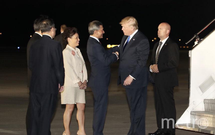 Президент США Дональд Трамп и министр иностранных дел Сингапура Вивиан Балакришнан. Фото AFP