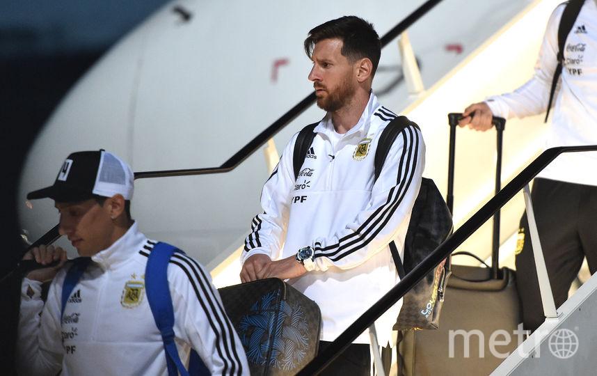Сборная Аргентины по футболу прилетела в Москву для участия в чемпионате мира. Фото AFP