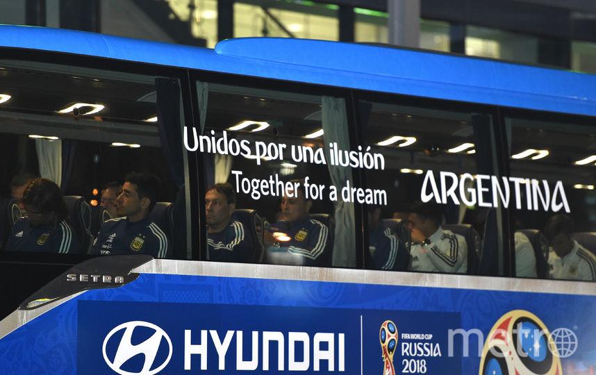 Игроки сборной Аргентины вместе с Лионелем Месси приехали на тренировочную базу в Бронницах. Фото AFP