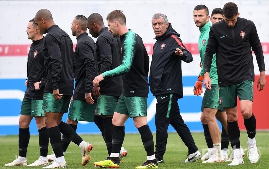 Открытая тренировка сборной Португалии. Фото AFP