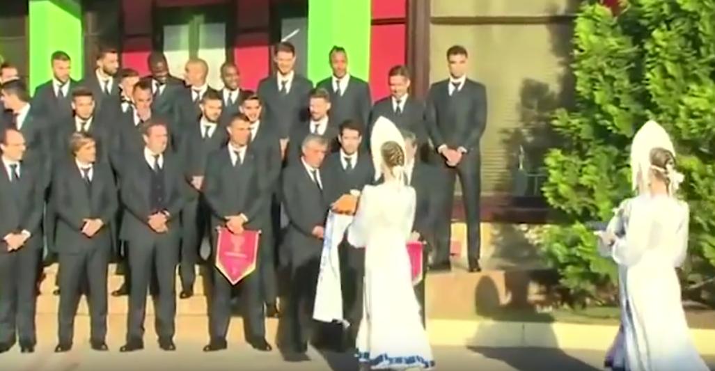 """Сборная Португалии прибыла в Кратов на базу """"Сатурн"""". Фото Скриншот Youtube"""