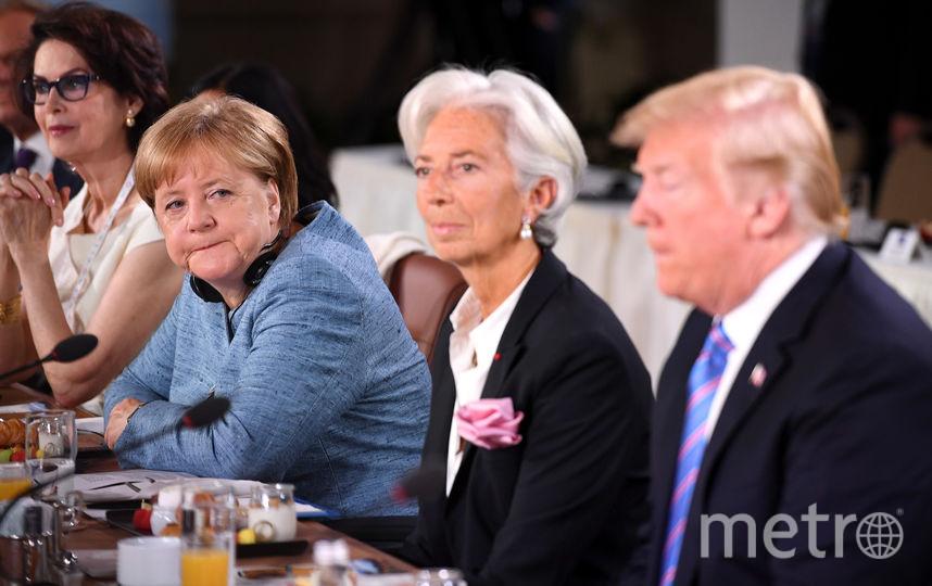 Трамп и Меркель на G7. Фото Getty