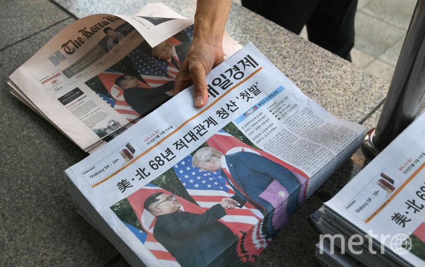 На острове Сентоса 12 июня прошла встреча, которую еще до ее начала назвали исторической: впервые в истории встретились лидеры США и Северной Кореи – Дональд Трамп и Ким Чен Ын. Фото AFP