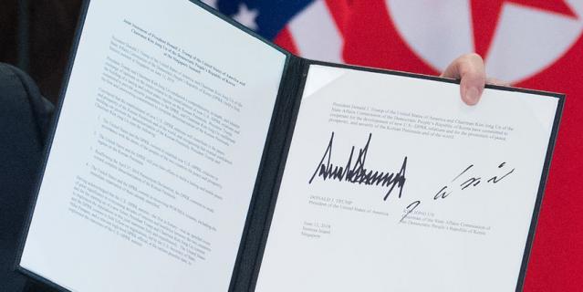 Соглашение, подписанное по итогам встречи лидеров США и Северной Кореи, содержит четыре ключевых пункта.