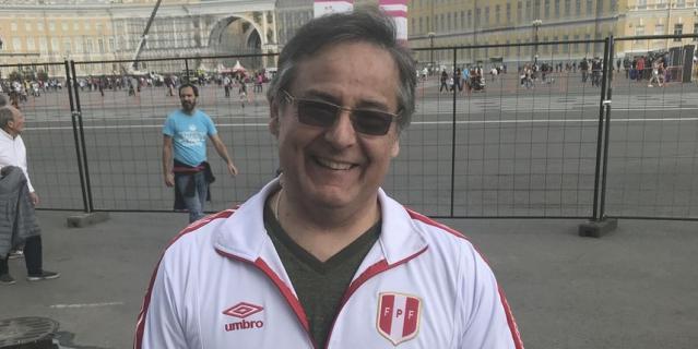 Канадский болельщик Перу Уолтер Перес.