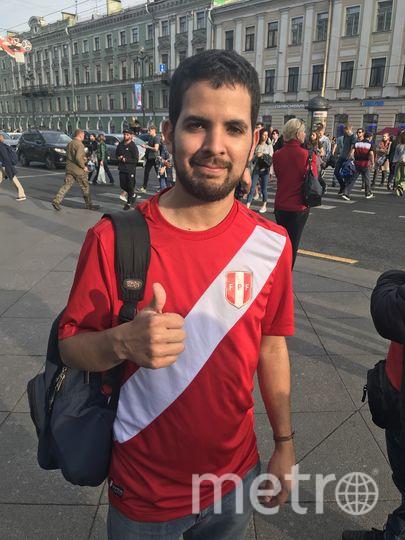 """Перуанец Родриго Виллакорта. Фото """"Metro"""""""