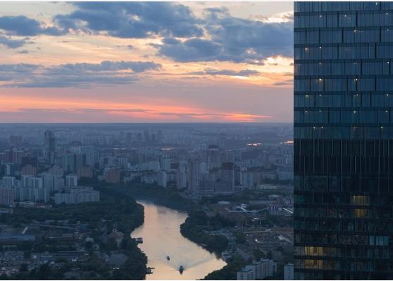 Вид с 56-го этажа «Москва-Сити». Фото пресс-служба Музея «Москва-Сити»
