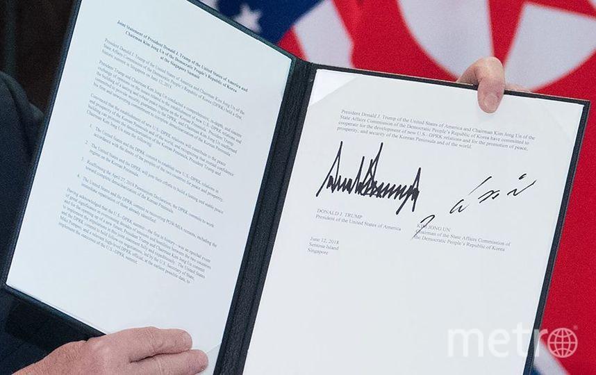 Подписи президентов двух стран. Фото Скриншот Youtube