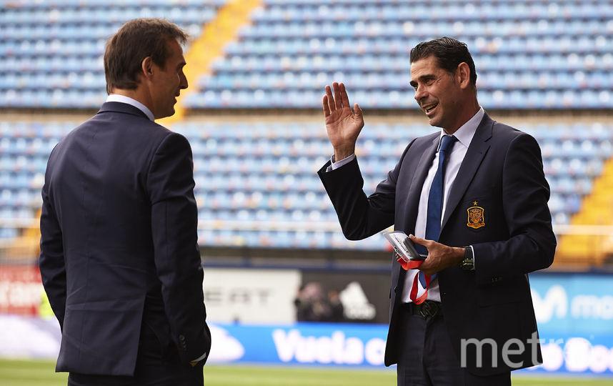 Бывший и нынешний тренер сборной Испании Хулен Лопетеги и Фернандо Йерро. Фото Getty