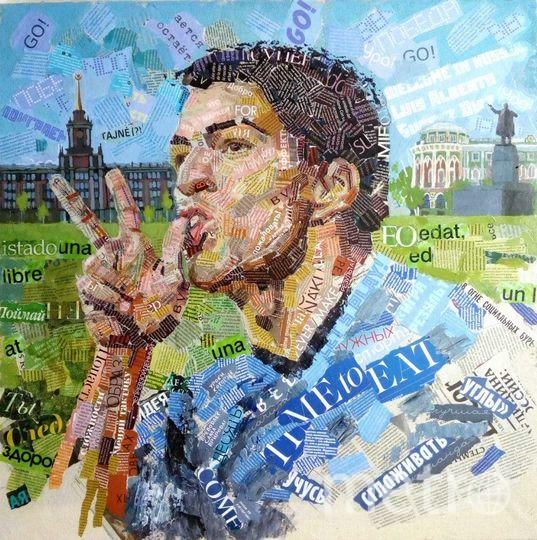 Нападающий сборной Уругвая Луис Суарес на фоне Екатеринбурга . Фото Предоставлено Андреем Шатиловым