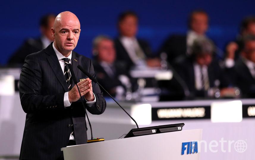 ФИФА приняла беспрецедентное решение. На фото глава организации – Джанни Инфантино. Фото Getty