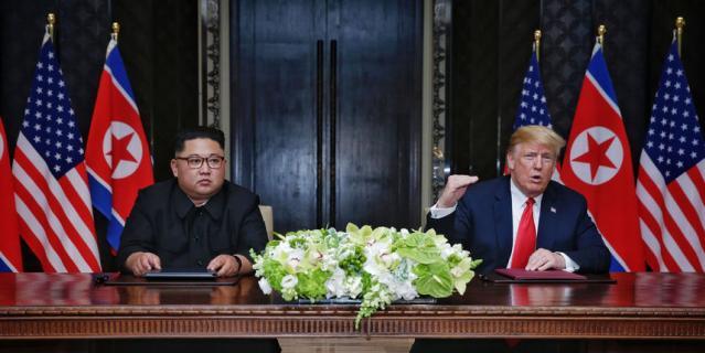 Дональд Трамп и Ким Чен Ын.