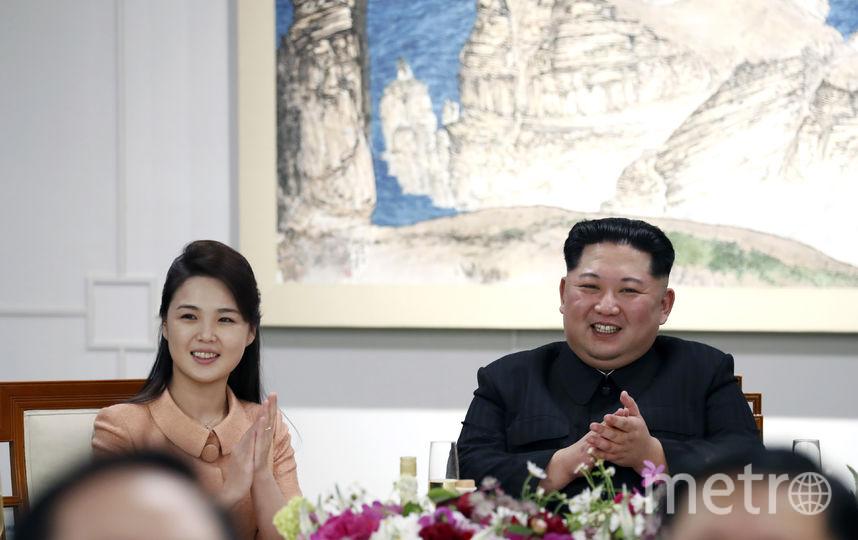 Ким Чен Ын с женой. Фото Getty