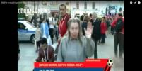 Русская бабушка-болельщица обескуражила бразильского журналиста. Видео