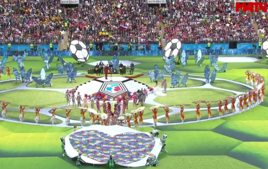 Церемония открытия церемонии ЧМ - 2018. Фото Все - скриншот YouTube