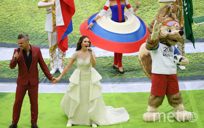 Робби Уильямс, Церемония открыти ЧМ по футболу - 2018. Фото Getty