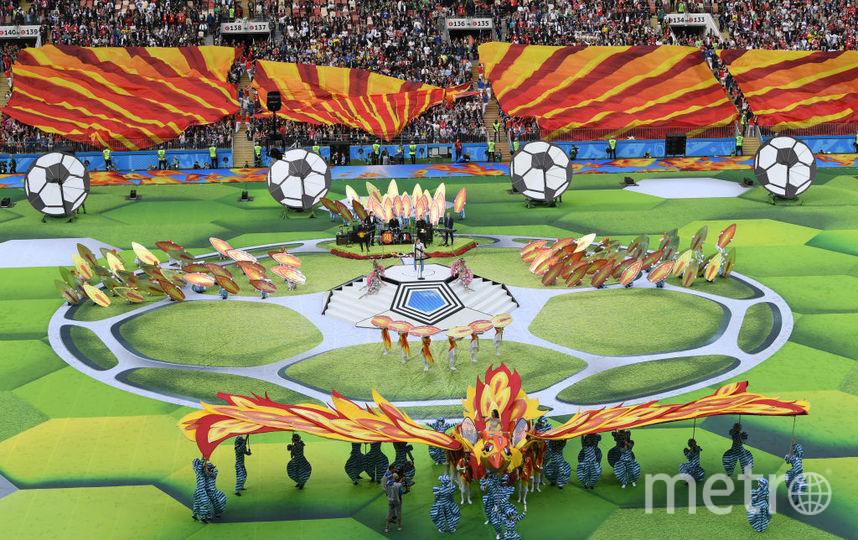 Церемония открыти ЧМ по футболу - 2018. Фото Getty
