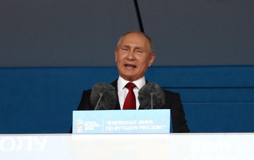 Президент Владимир Путин, Церемония открыти ЧМ по футболу - 2018. Фото Getty