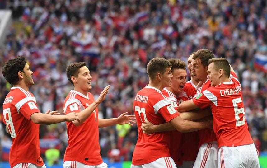 Сборная России забила пять голов в первом матче на чемпионате мира. Фото AFP