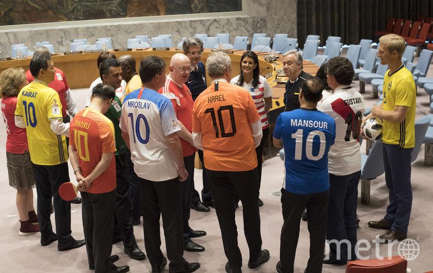В ООН отметили открытие ЧМ-2018. Фото AFP