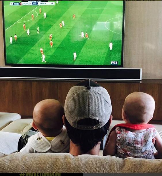 Энрике Иглесиас с детьми. Фото Instagram