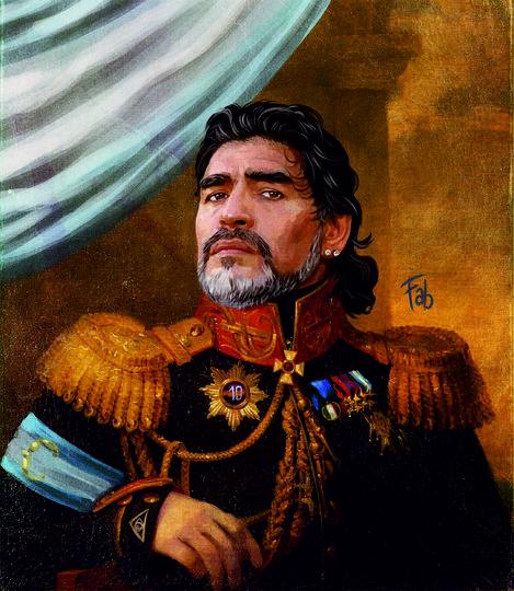Диего Марадона. Фото картина Фабрицио Биримбелли, Предоставлено организаторами