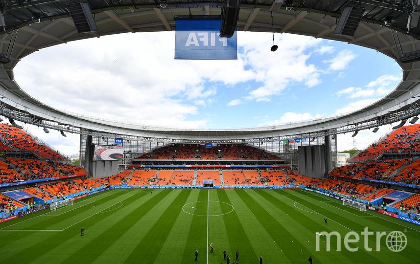 Фанаты на стадионе в Екатеринбурге. Фото Getty