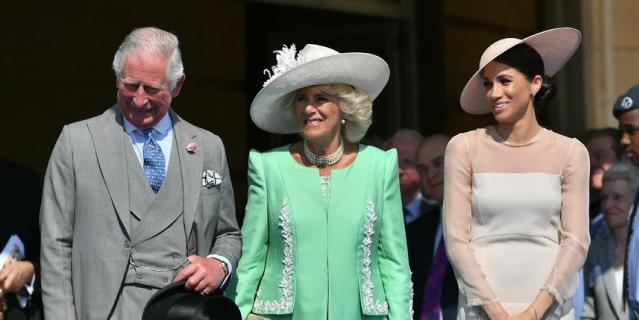 Принц Чарльз, Камилла Паркер-Боулз и Меган Маркл.
