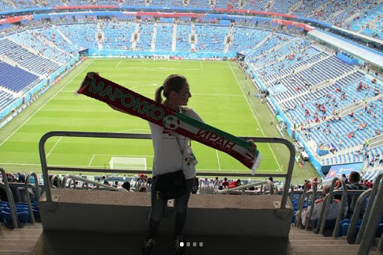 Болельщицы матча Марокко – Иран. Фото Instagram/noangel_2707