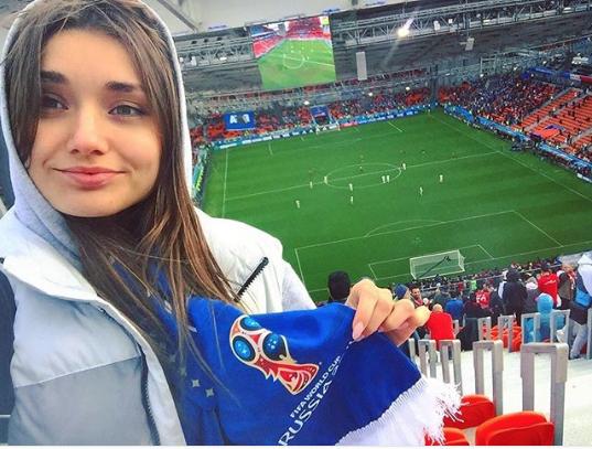 Болельщицы матча Египет – Уругвай. Фото Instagram/zhannasht