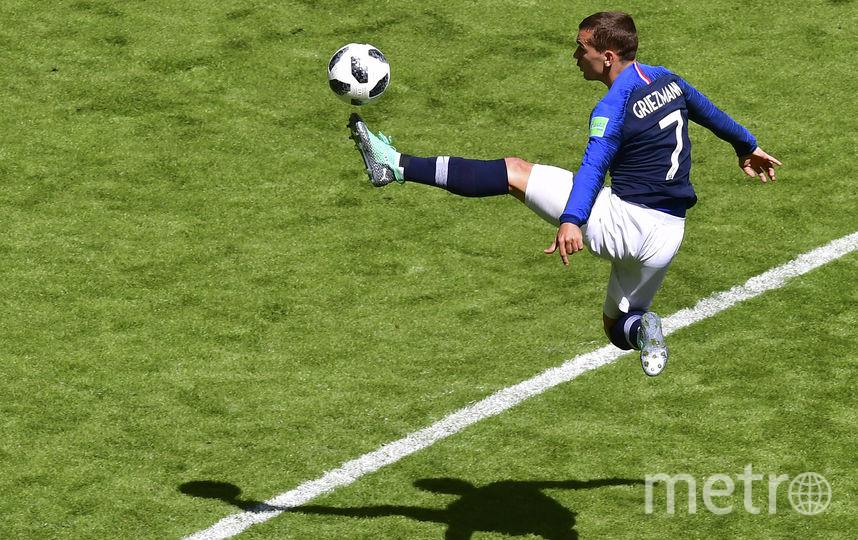 Антуан Гризманн атакует ворота соперника. Фото AFP