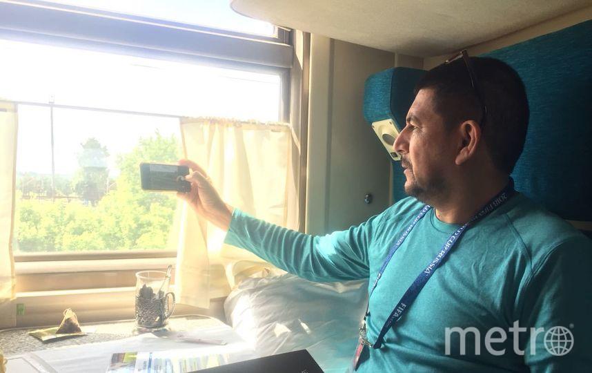 Эстевес Альфаро Хорхе Луис в поезде Москва - Саранск. Фото Кирилл Сосков