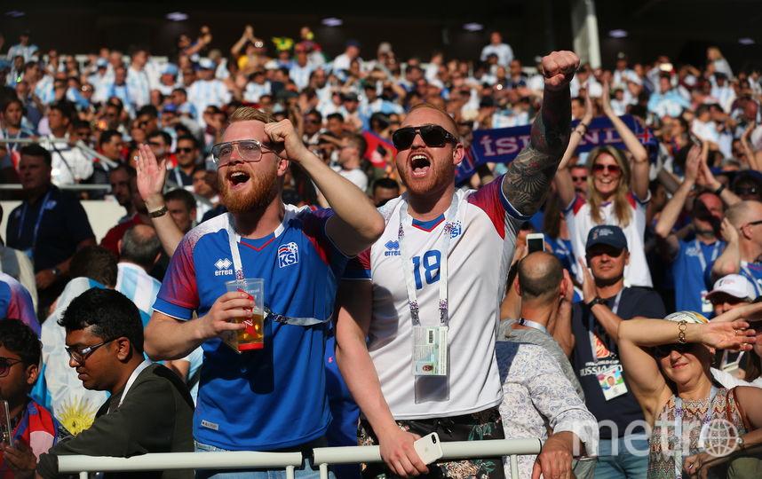В Россию приехали тысячли исландцев, которые затем поедут за командой в Волгогорад и Ростов. Фото Василий Кузьмичёнок
