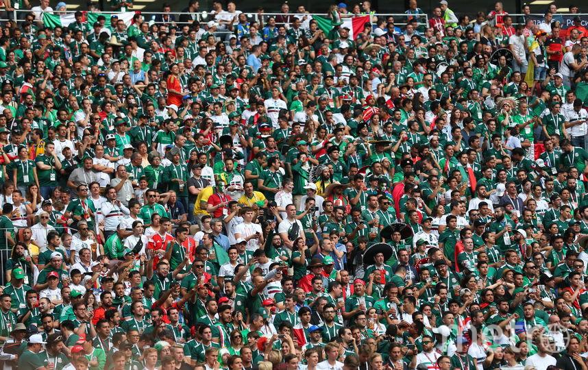 """Матч группового этапа чемпионата мира по футболу в России Германия — Мексика посетило 78011 зрителей. Фото Василий Кузьмичёнок, """"Metro"""""""