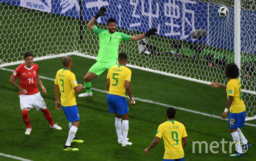 Бразильцы пропустили мяч от Швейцарии во втором тайме. Фото AFP