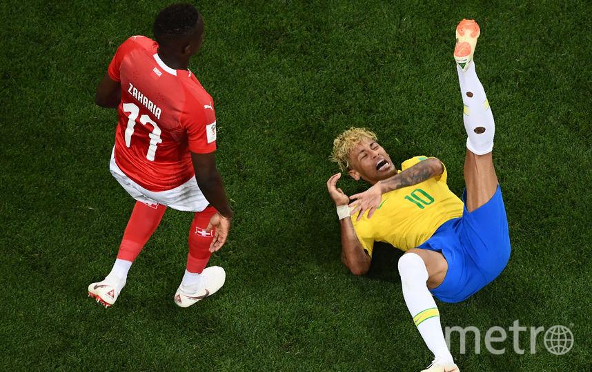 Неймар выделялся на матче только причёской. Фото AFP